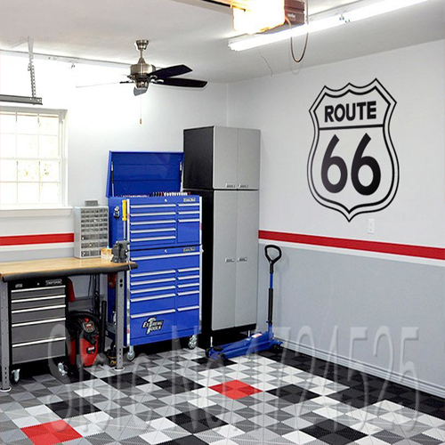 Rushed Diy Poster Vintage Signs Route 66 Number Stickers