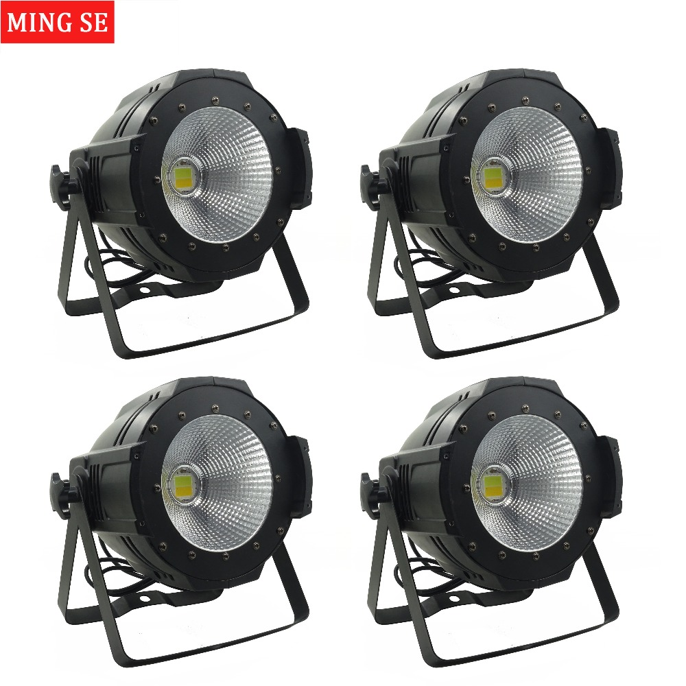 4units LED Par COB Light 100W High Power Aluminium DJ DMX Led Beam Wash Strobe Effect Stage Lighting,Cool White and Warm White freeshipping 4pcs dmx 100w cob warm yellow warm white led dj par light 100 wart dmx512 control mater slave stage lighting effect