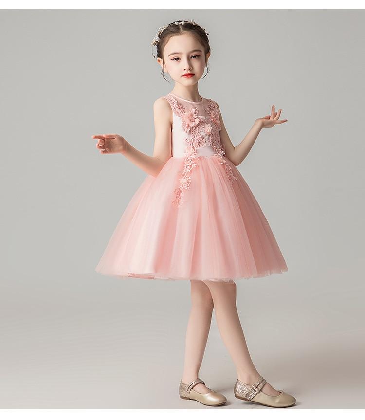 a9037cb8d JaneyGao flor chica vestidos para boda fiesta ChildrenTulle vestido ...