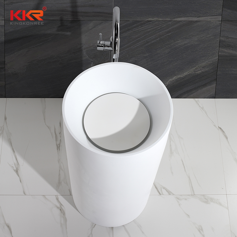 Kkr Solid Surface Material Artificial Stone Freestanding