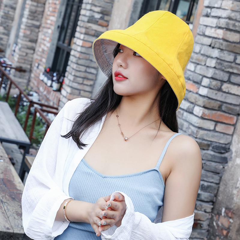 Bucket Hat Flat Top Wide Brim UV Protection Breathable Packable Foldable Sunshade Cotton Linen Blend Sports Sun Cap