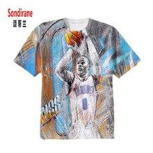 Sondirane WESTBROOK 3D Sublimation Print Custom Made T shirt Summer Short Sleeve Hip Hop Tops Casual