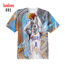Sondirane WESTBROOK 3D Sublimation Print Custom Made T-shirt Summer Short Sleeve Hip Hop Tops Casual Men/Women Tops Plus Size