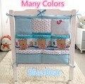 Promoção! Kitty Mickey jogo de cama cama de bebê pendurado saco de Fraldas organizador de armazenamento portátil 62*52 cm saco de armazenamento de acessórios