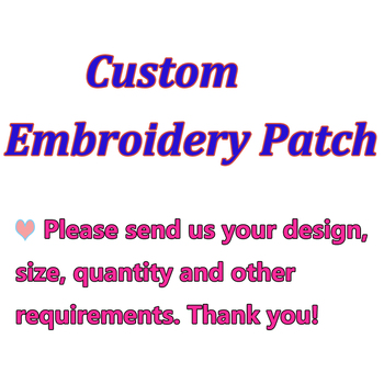 Custom Accessories Patch Logo for Clothes Iron on Transfer Applique Patches Embroidered Patches For Clothing Jacket for DIY image