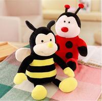 36 см Творческий Пчела и Жук Куклы Плюшевые Игрушки Пчелы Жук Куклы Мягкие игрушки животных с подарками