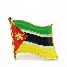 Pin de Lapela Bandeira nacional a Bandeira do Metal Pin Moçambique