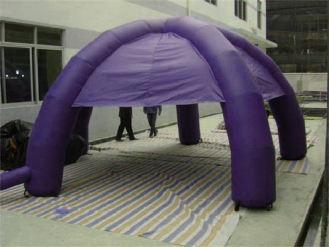 Atraente 5 pernas Novo Estilo Roxos barraca Inflável para a Exposição, evento