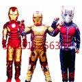 Os Vingadores Homem De Ferro Cosplay traje para os meninos Hulk Formiga homem Roupas de halloween Traje para As Crianças vestido de festa de Carnaval Máscara muscular