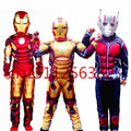 The Avengers Iron Man Cosplay costume for boys Hulk Ant Man Clothes halloween Costume for Kids Carnival party dress Mask Muscle