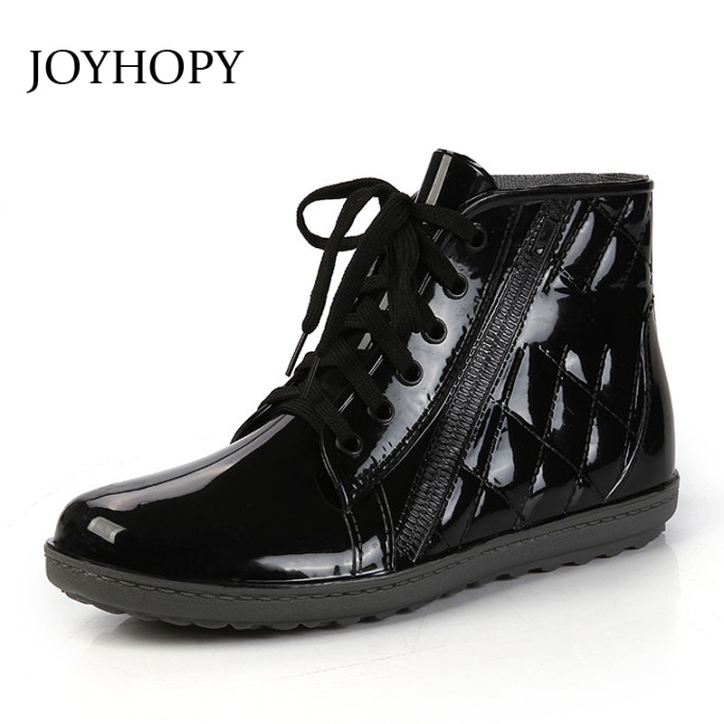Aliexpress Com Buy Joyhopy Fashion Men Rubber Rain Boots