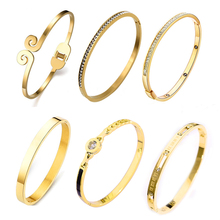 hot deal buy titanium stainless steel openning fashion jewelry bracelets & bangles for women nail screw cuff bracelet bangles for women