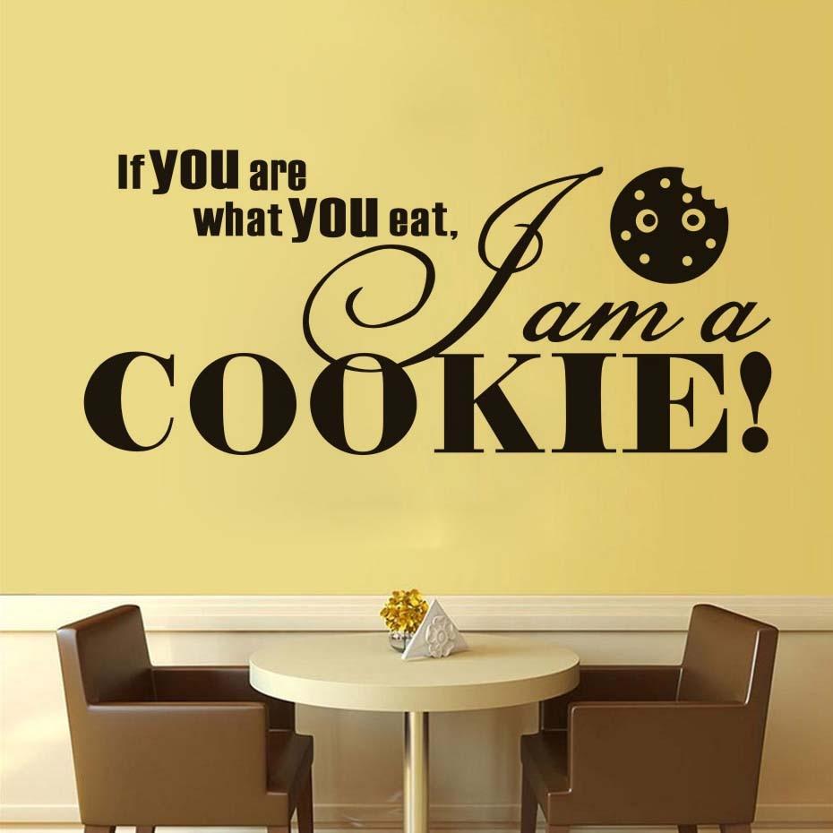 Ich Bin Ein Cookie Wandaufkleber Fr Kche Zimmer Home Dekoration Kreative Diy Abnehmbare Fliesen Wandtattoos Kunst Vinyl Rot JD