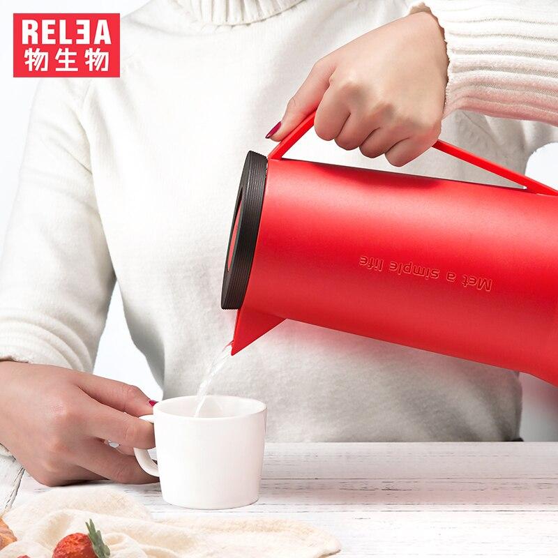 1.5L haute qualité grand verre intérieure réservoir bouilloire d'eau café thé Cruche ménage vide flacons Isolation Bouteilles SANS BPA