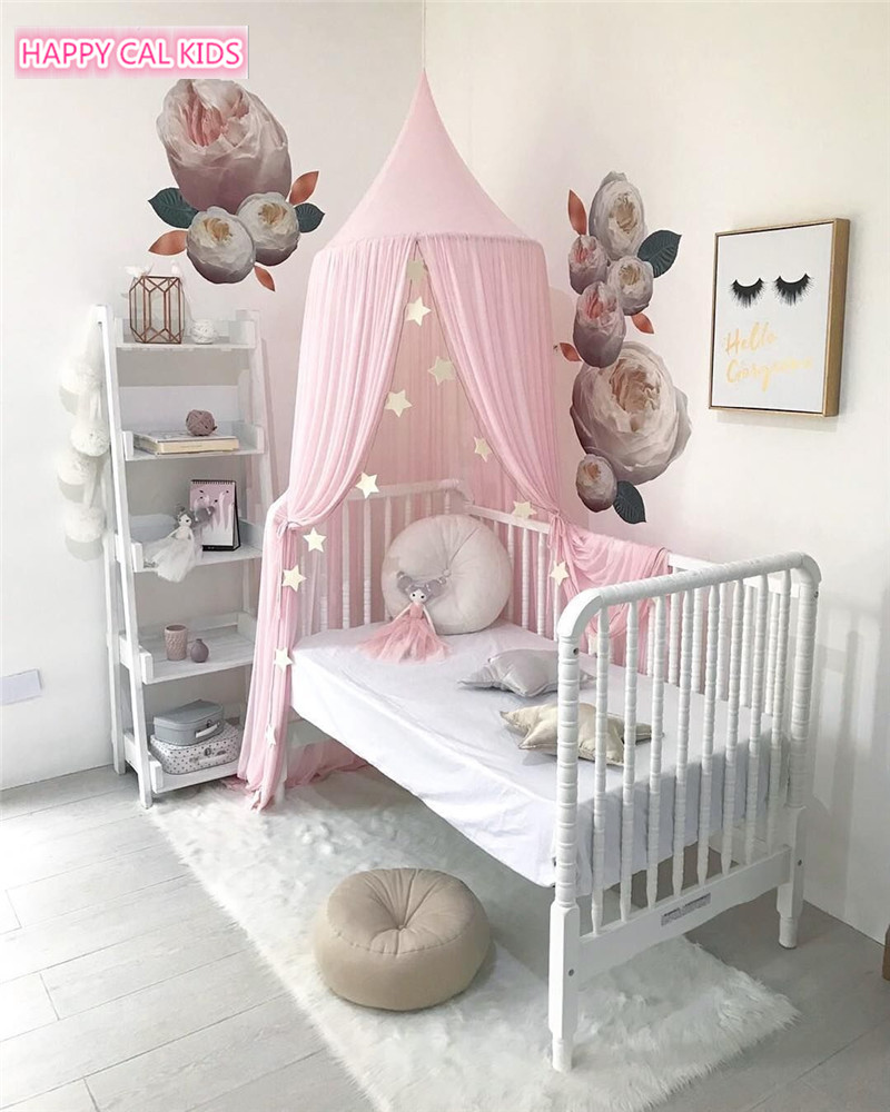 Kids Teepee Tents Children Play Room Chiffon Portable Crib Tent