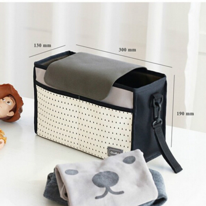 Hot Droship! Multifunctional Mummy Bag Diaper Bags Baby Diaper Nappy Polyester Stroller Striped Hanging Bag