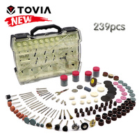 TOVIA Electric Mini Drill Bit Accessories Set Abrasive Tools Dremel Accessories Compatible with Dremel Rotary Tool for Grinding