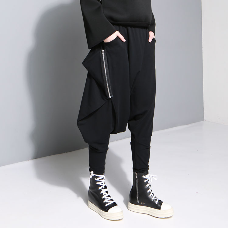 2017 new men harem pant street fashion hiphop casual pant