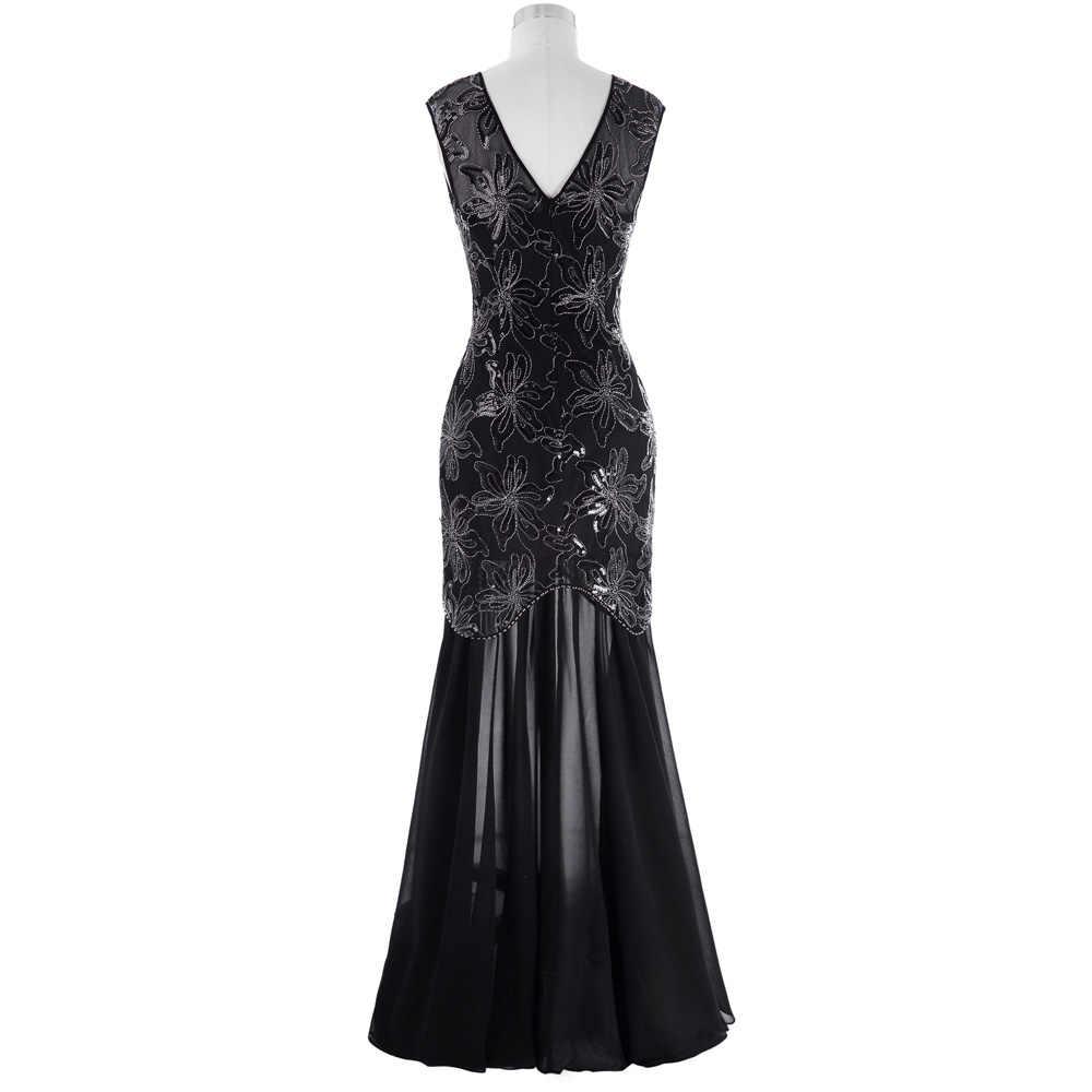 f47db7d365b2 ... Kate Kasin Cap Sleeve Evening Dress 2018 Sequins Mother of the Bride Dresses  Long Gown Black ...