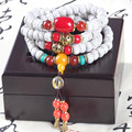 Ubeauty 9mm 108 lotus bodhi seed beads bracelet  buddha prayer japa  necklace Tibetan buddhist meditation yoga tool free ship