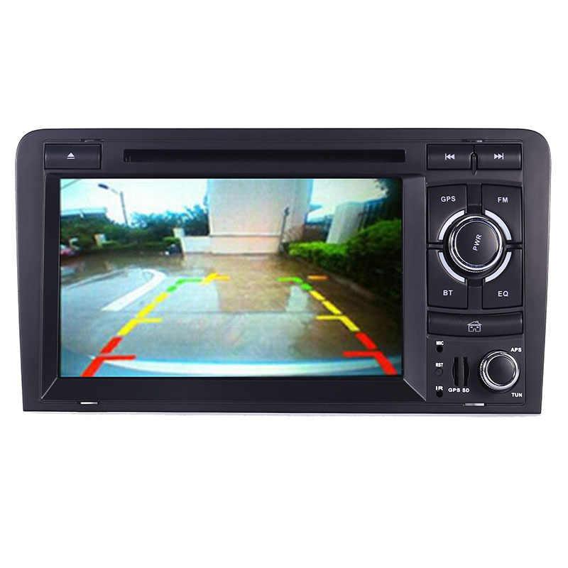 2DIN 車 DVD GPS アウディ A3 S3 2002-2011 ラジオ GPS Bluetooth 1080 1080P 3 グラム USB ホストステアリングホイールコントロール Canbus 送料 8 ギガバイトの GPS マップ