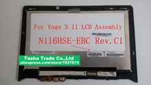 For Lenovo Yoga 3 11 Yoga3 11 N116HSE-EBC LCD Touch Screen Digitizer Assembly with Frame Bezel
