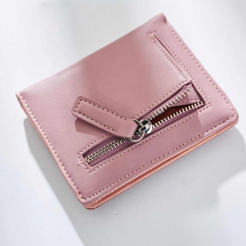 WEICHEN корейский милый кот аниме шаблон складной мини кошелек кошельки для женщин ПУ, кожаная монета держатель карты сумка женский маленький клатч