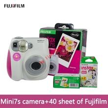 fujifilm original mini Camera 7S Instant Camera+ 40 sheet Film Photo Camera Blue and Pink appareil photo instax mini Camera