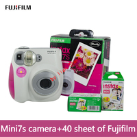 fujifilm original mini Camera 7S Instant Camera+ 40 sheet Film Photo Camera Blue and Pink appareil photo instax mini Camera