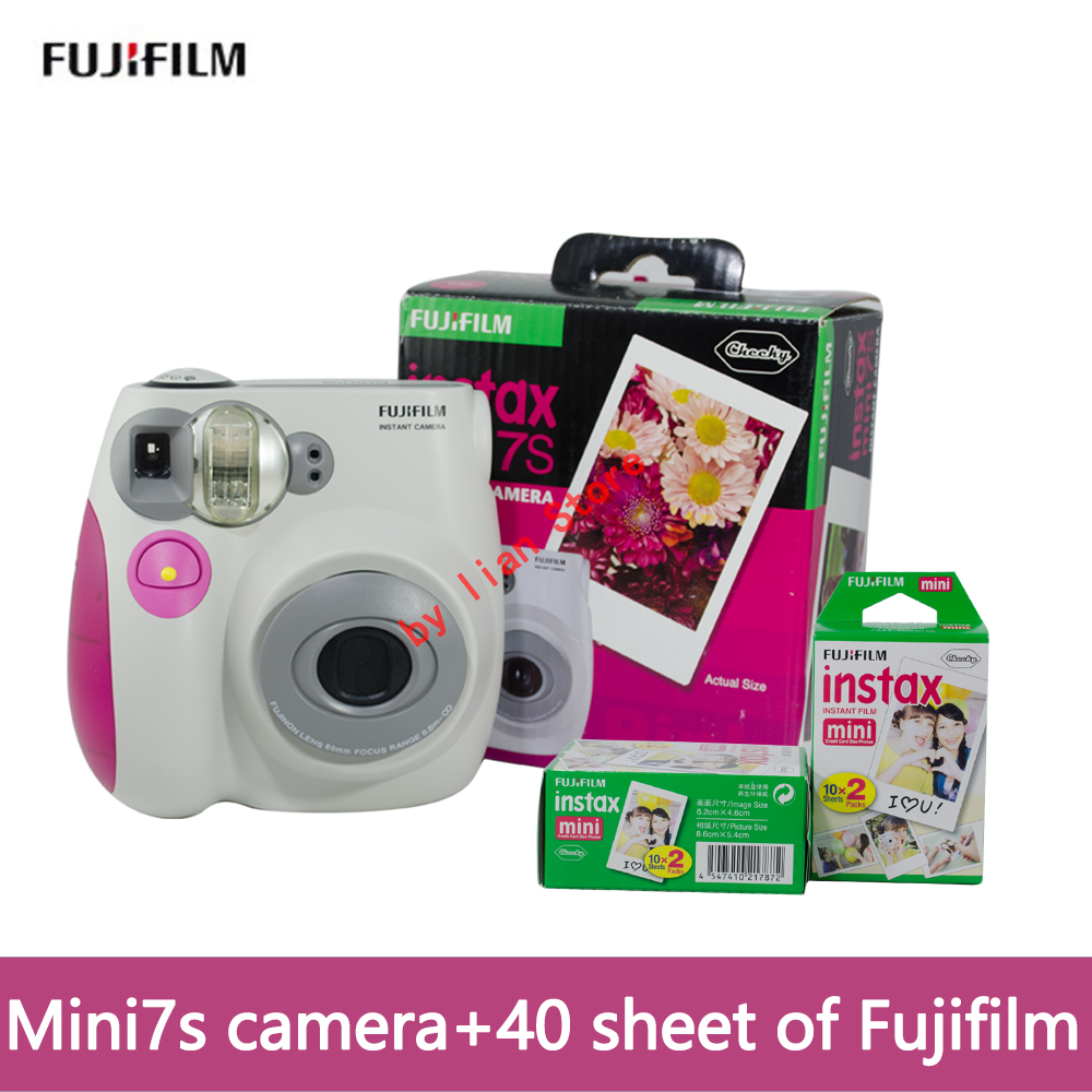 original mini 7S camara instantanea fujifilm+film 40 Instant Film Photo Camera Blue and Pink appareil photo instax Free Shipping