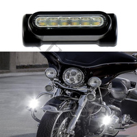 Universal Motorcycle DRL Signal lamp Highway Crash Bar Light Switchback Driving Light LED White Amber for Harley Touring Models