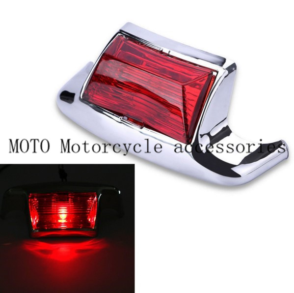 Motorcycle Rear Fender Tip Light Red Lens For Harley FLSTC Heritage Softail Classic Electra Glide Motorbike Fender Tip Light  clear smoke red lens motorcycle red led brake stop rear fender tip tail light indicator lamp for harley breakout fxsb 2013 2016