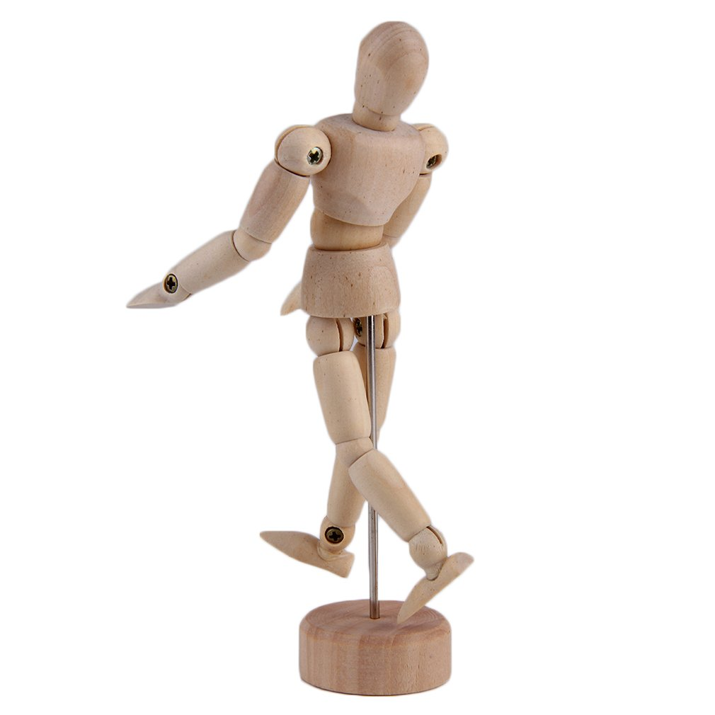 4.5''/5.5'' Drawing Model Fingerlings Wooden Human Male Manikin Jointed Mannequin Puppet Action Figure Toys