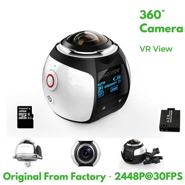 [Original] 2338x2448 Ultra HD de 360 Graus Panorâmica Cam Wi-fi À Prova D' Água Esporte mini Câmera de Vídeo DVR kamera deportiva camara