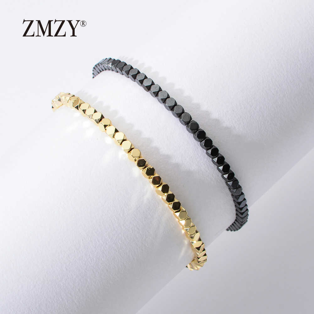 ZMZY New Fashion Minimalist Handmade Boho Bracelet Stone Hematite Beads Bracelet Jewelry Gift Friendship Women Accessories