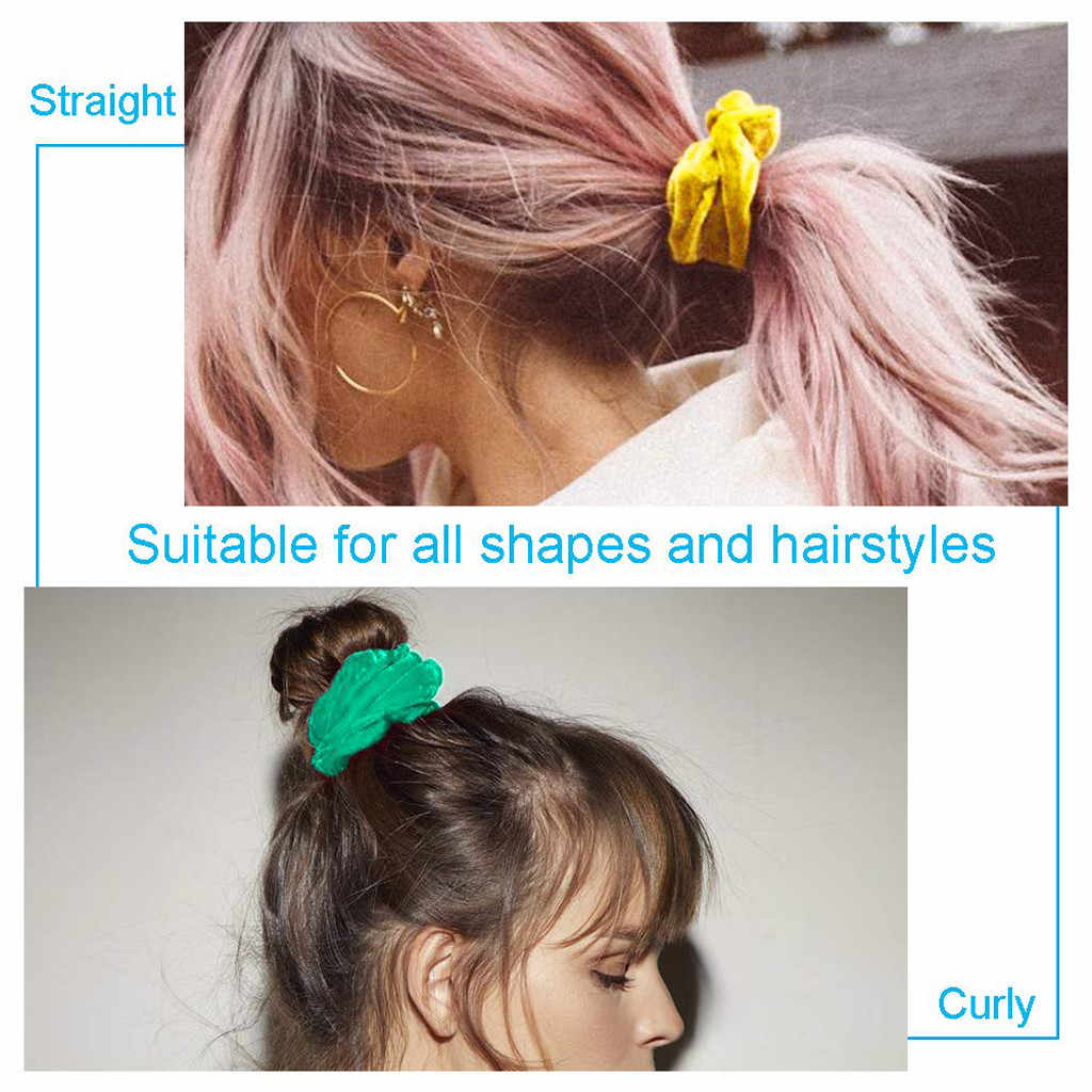 Velvet Scrunchies 9pcs Hair Ring Simple Hair Accessories Headbands Bobbles Heads High Velvet Scrunchies Hair band Dropshipping