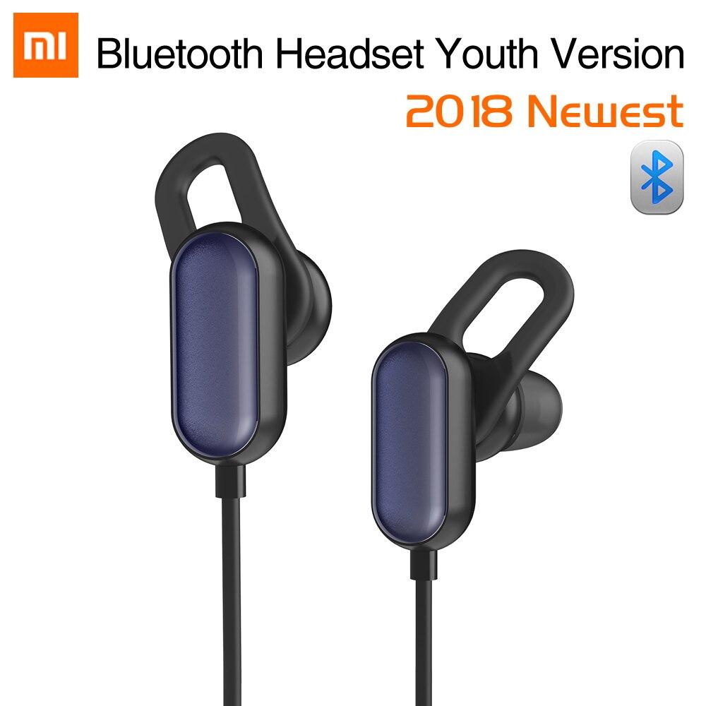 Original Xiao mi mi Sport Bluetooth Headset Jugend Edition Xiao mi Drahtlose Bluetooth 4,1 Mit mi crophone IPX4 Wasserdicht 5 ohrhörer