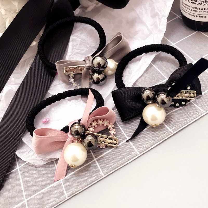 Korea Handmade Pearl Rubber Hair Band Hair Accessories Headwear Girls Headband For Women Hair Bows 5 Girl's Hair Accessories
