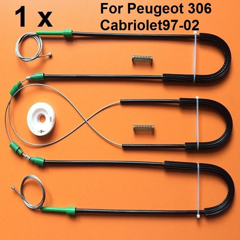 For Peugeot 306 Cabriolet 97-02 Window Regulator Repair Kit Front Left/Right Side