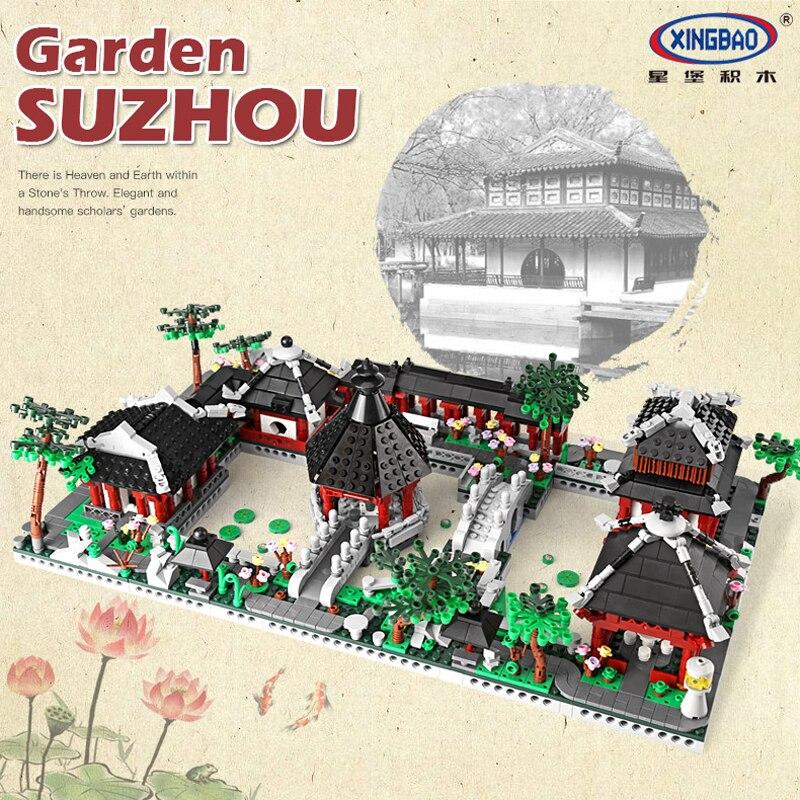 XingBao 01110 6 in 1 Suzhou Garten Bausteine Ziegel Traditionellen Chinesischen Architektur Modelle Kompatibel Legoings Creators-in Sperren aus Spielzeug und Hobbys bei AliExpress - 11.11_Doppel-11Tag der Singles 1