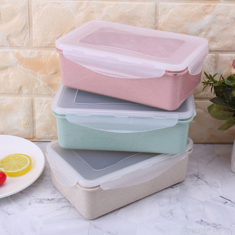 NEW Fresh Fruit Snack Storage Container Food Lunch Sealed Crisper Box Kitchen 1000ml Random delivery W215