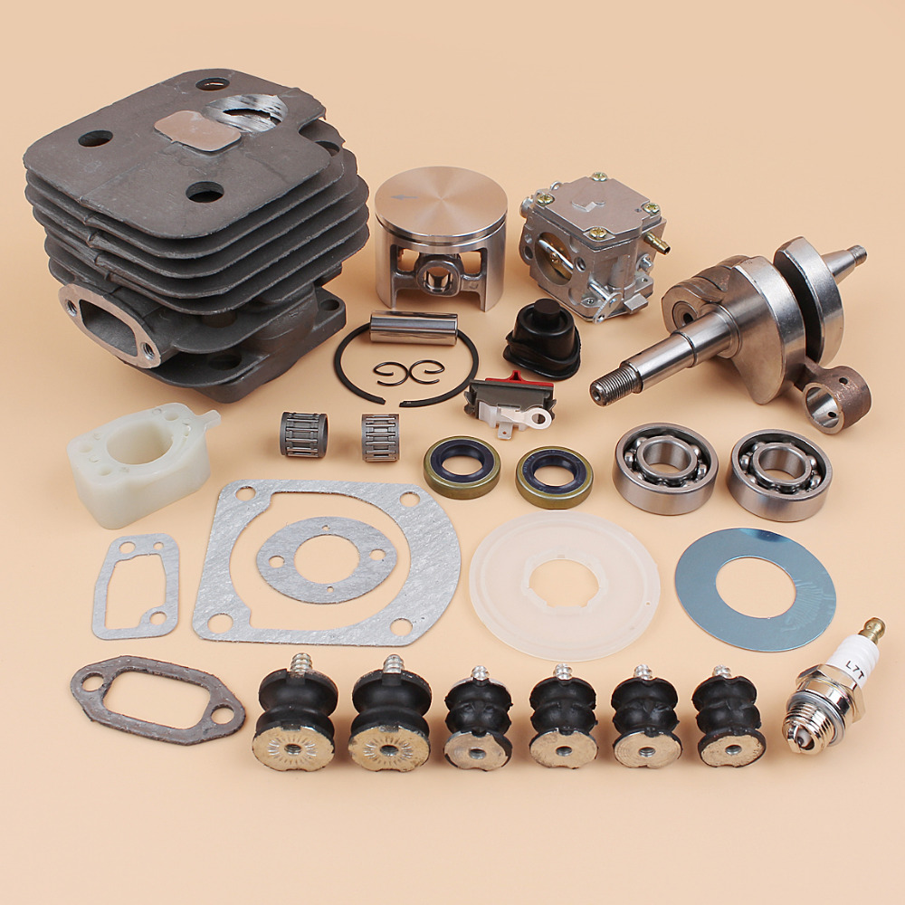 Tools : 52MM Cylinder Piston Carburetor Carb Isolater Buffer Mount Kit Fit HUSQVARNA 61 268 272 272XP Chainsaws Engine Spare Parts