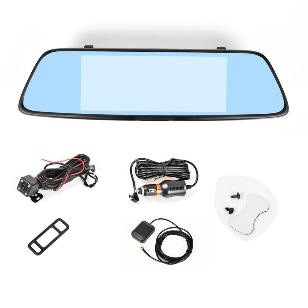 """T70S 4G Network Mirror Car Camcorder With 7"""" IPS Touch Display Screen Car DVR Bluetooth Driving Assistance <font><b>System</b></font>"""