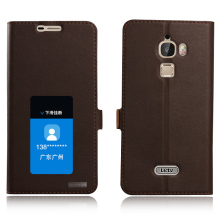 Window Smart Cover Case For Letv Max X900 Le MX1 Top Quality Genuine Leather Magnet Flip