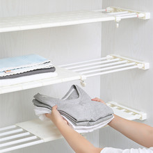 High Quality Adjustable Avoid Flexible Wardrobe Closet Storage Rack Layered Cupboard Partition Commodity Luggage Carrier Shelves high quality adjustable shoes storage rack