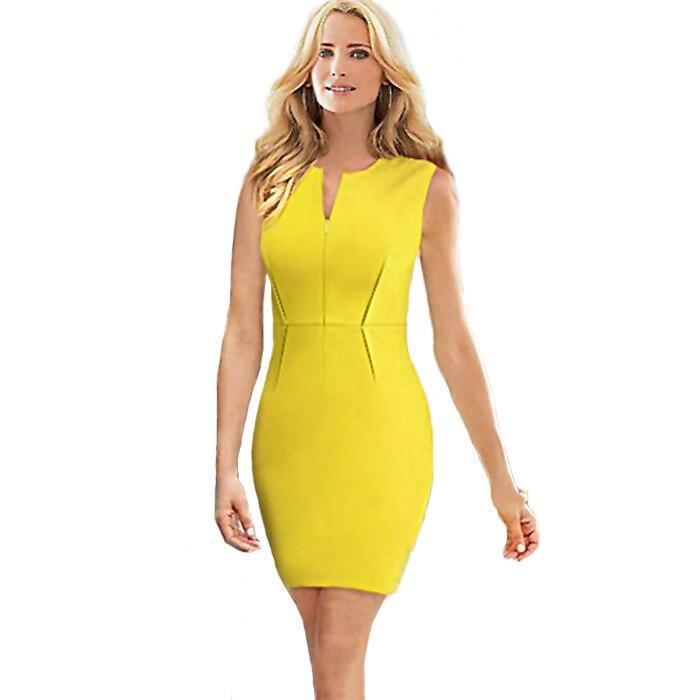 Yellow business dress