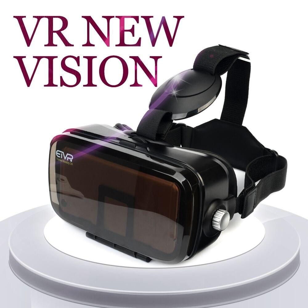 2017 etvr виртуальной реальности 3D Очки Google cardboard VR коробка гарнитура 120 градусов FOV + bluetooth геймпад