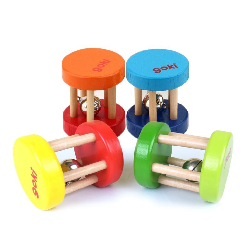 2 шт багатобарвної Baby марка брязкальце / дерев'яні музичні інструменти іграшки, діти Orff раннього навчання освітні іграшки, безкоштовна доставка