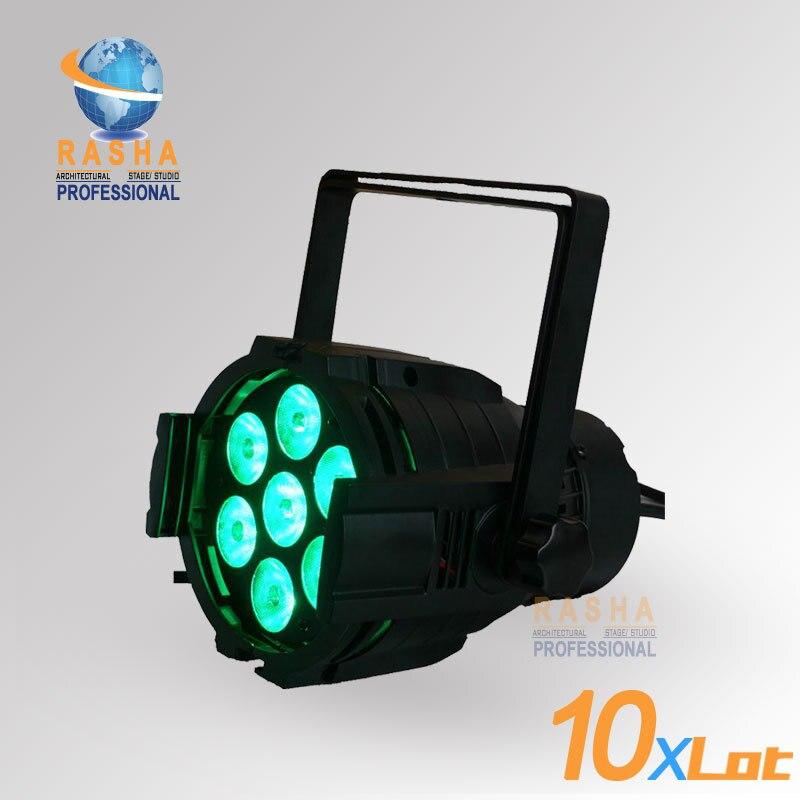 10X LOT NEW ARRIVAL Rasha DJ Light 7pcs*10W 4in1 RGBW Mini LED Par Light LED Mega Par38 Stage Light,LED Quad Par Can цена