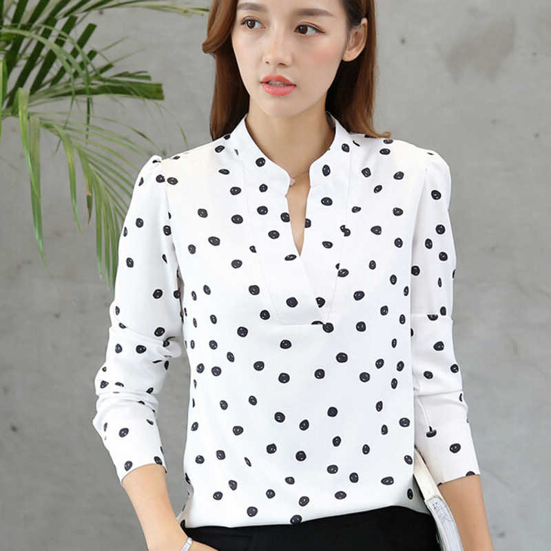 b7c00f9ff Womens Black And White Polka Dot Shirt Custom Shirt